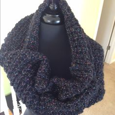 SALE Steve Madden Infinity Scarf Beautiful plums and black with golden threads make up this super fun Steve Madden scarf Steve Madden Accessories Scarves & Wraps