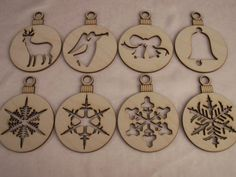 Wood Christmas Ornaments Laser Cut Ready to by TomaCraftPlace