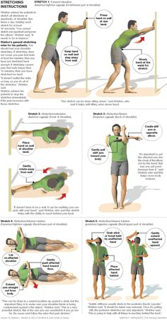 Stretching can be key to healthy shoulders Frozen Shoulder Exercises, Neck And Shoulder Exercises, Shoulder Workout, Shoulder Pain Relief, Neck And Shoulder Pain, Workout Memes, Exercise Meme, Workout Exercises, Fitness Exercises