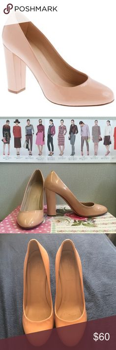 J Crew Nude Etta Patent Leather Pumps Size 7, run a little small. Feel free to make an offer! J. Crew Shoes Heels