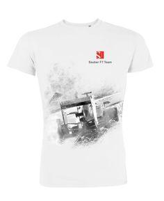 "Sauber Team - Sauber Team T-Shirt ""Race Car Graphic"" - T-shirts - Webshop Team T Shirts, F1, Race Cars, Racing, Mens Tops, How To Wear, Fashion, Drag Race Cars, Running"