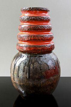Scheurich 'Wein' Fat Lava floor vase, by A. Seide, circa 1960's by afterglowretro, via Flickr