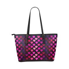 D-Story Hearts On Fire Leather Tote Bag Handbag(Large) * Details can be found by clicking on the image.
