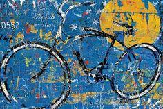 Blue Graffiti Bike Fine-Art Print by Daryl Thetford at UrbanLoftArt.com