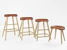 Thomas Moser is expensive, but I swear the stool on the far right is the most comfortable seat in our house.