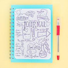 summer journal made using doodles & dreams digital stamps Doodle Art Posters, Doodle Art Journals, Summer Journal, Poster Drawing, Simple Cartoon, Simple Doodles, Parchment Craft, Art Journal Inspiration, Journal Ideas