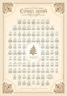 Allahın 99 ismi | Grafikle İslamiyet