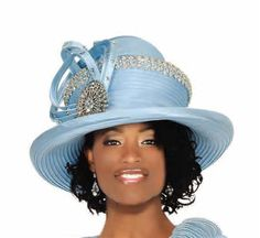 Champagne Elite Hat Power Blue, also Black, Was Our Price Church Suits And Hats, Women Church Suits, Church Hats, Fashion Hats, Sunday Morning, Scarfs, Crowns, Champagne, Lady