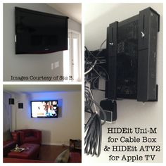 Universal Device Wall Mount Shelf Bracket   AV Components   Cable Box – HIDEit Mounts