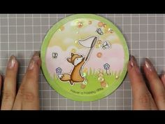 Shaker Card - Lawn Fawn - Butterfly Kisses - YouTube Butterfly Kisses, Scrapbooking, Scrapbook Cards, Marker, Spinner Card, Lawn Fawn Stamps, Interactive Cards, Mama Elephant, Shaker Cards