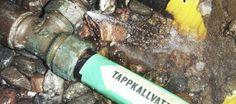 Läckage på kallvattenledning