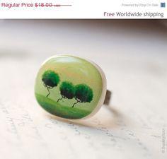 Green Trees ring R015 by BeautySpot on Etsy, $10.80
