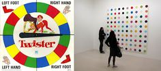 "Hasbro's Twister Damien Hirst's Spot Challenge (Return to Part II ) Like ""commodity"", ""consumerism"" is not a word us. Size Of Texas, Damien Hirst, Consumerism, Game Art, Buy Art, The Past, Games, Connection, Archive"