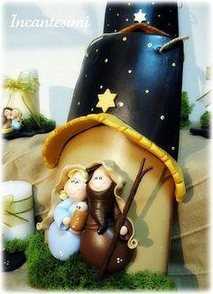 Teja navideña: Christmas Clay, Christmas Images, Christmas Crafts, Christmas Decorations, Xmas, Christmas Ornaments, Holiday Decor, Clay Crafts, Diy And Crafts