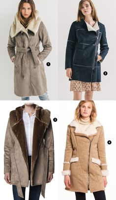 4 manteaux bien chauds avec fausse fourrure pour adoucir votre hiver >> http://www.taaora.fr/blog/post/manteau-femme-hiver-2015-2016-peau-lainee-mouton-doublure-fausse-fourrure-canadienne