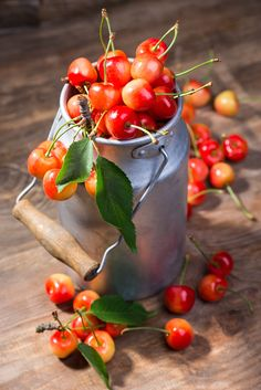 Cherries by Nataly GL / Fruit And Veg, Fruits And Vegetables, Fresh Fruit, Cherries Jubilee, Fruit Photography, Still Life Photography, Rainbow Food, Beautiful Fruits, Still Life