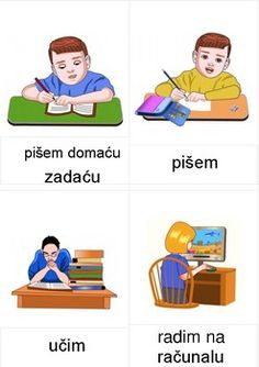 Daily activities flash cards (in Croatian) by Croatian Language Croatian Language, Autism Education, Picture Dictionary, World Languages, Flashcard, Second Language, Daily Activities, World History, Montessori