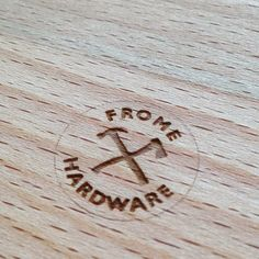 Laser etched chopping boards made to order in store.  #whileyouwait  #branding #brand #logo #logos #wood #wooden #woodensigns #choppingboard #lasercut #tools #fromehardware