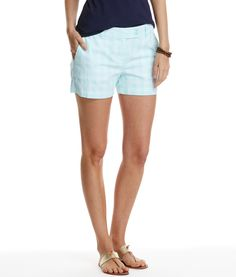 Gingham Whale Dayboat Shorts