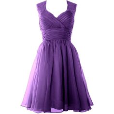 MACloth Women Straps Short Bridesmaid Dress Wedding Party Cocktail... (140 NZD) ❤ liked on Polyvore featuring dresses, gowns, short formal dresses, cocktail dresses, short evening dresses, holiday party dresses and formal evening dresses