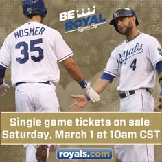 #Royals single-game tickets go on sale this Saturday! #BeRoyalKC