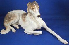 Nymphenburg Porcelain Borzoi Dog Figurine Figure Porzellan Hund Figur Barsoi #NymphenburgGerman
