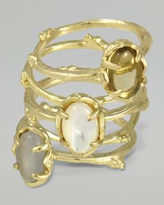Set of 5 Stormy Stacking Rings, Pearlescent by Kendra Scott at Neiman Marcus.