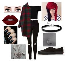"""""""Circles"""" by alternativeone ❤ liked on Polyvore featuring Topshop, Alice + Olivia, Vans and Lime Crime"""