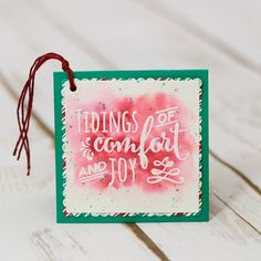 Watercolor gift tags and box featuring the Christmas Pines stamp set from Stampin' Up by Marisa Gunn Stampin Up Christmas, Christmas Tag, All Things Christmas, Christmas Crafts, Xmas, Homemade Cards, Gift Tags, Winter, Watercolor