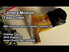 Tear Down, Camera Module, 808 Car Keys Micro Camera Electronic Circuit Projects, Electronics Projects, Diy Electronics, How To Clean Computer, Diy Security Camera, Arduino Uno, Night Vision Monocular, Night Sights, Spy Gadgets