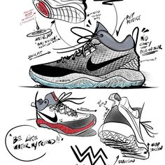 ZOOM REV 2016 SKETCHES. First project I worked on when I joined the category assisting @leoschang finishing that project. Great design and learned a lot helping out .Materials magic by @sanford23 / dev @i_am_timi_o /marketing @succec11 #nikebasketball#miniassist#zoomrev2016#dopeteam#ateam#solecollector#teamwork
