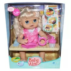 Nib Hasbro Baby Alive Dress N Slumber Blrown Hair Baby