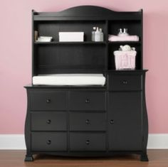 Savanna Bella Changing Table Or Hutch   Black Found At @JCPenney