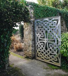 Celtic door design with ivy...naturally.