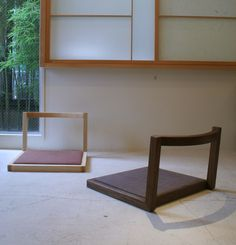座椅子/BANZAIフロアチェア(デザイン:小泉 誠) Chair Design, Furniture Design, Japanese Living Rooms, House Extensions, Couches, Floor Chair, Stool, Chairs, Studio