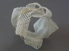 HANNE BEHRENS BRACELET  Knitted 14K gold and silver