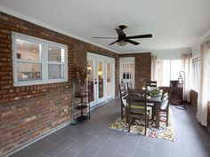 HGTV's Property Brothers Drew and Jonathan Scott buy seemingly hopeless houses and transform them into customized dream homes. Check out the impressive before-and-afters of their latest renovations here. Paint Cabinets White, Hgtv, House, Home, Bookshelves Built In, Porch Design, Screened Porch Designs, Interior Remodel, Property Brothers