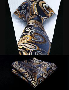 0c264961456b Cheap gold paisley, Buy Quality handkerchief set directly from China mens  ties Suppliers: Party Wedding Classic Pocket Square Tie Navy Blue Gold  Paisley ...