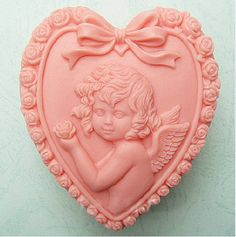 Angel Heart Shape Soap Mold Mould Silicone Mold Flexible Mold Cake Mold via Etsy.