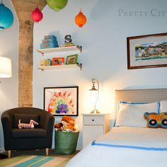 Sebastian s colorful big boy room