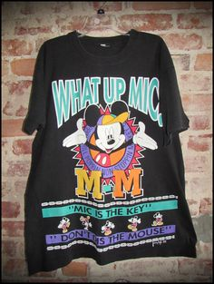 Vintage 90's Disney Mickey Mouse What Up Mic Shirt by RackRaidersVintage, $20.00