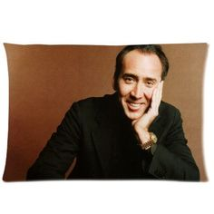 ZhouBrand Custom Popular Movie Actor Nicolas Cage 2030 inch Zippered Pillowcase Good Quality Hansome Charming Man Two Sides Printed Pillow Cover -- See this great product.