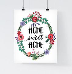 """DIGITALDRUCK ZUM DIREKTEN DOWNLOAD IM PDF FORMAT  Home Sweet Home - direkt herunterladbarer Digitaldruck. Typografie-Poster zum selbst ausdrucken im Format 8x10 Zoll (20,3 x 25,4cm). Dank Vektorgrafik kann man die Größe ohne Qualitätsverlust auf beliebige Größen anpassen. Gerne sende ich Ihnen jedoch auch den Artikel in den von Ihnen gewünschter Größe und Dateiformat (z.B. A3/A4, JPG/PNG). Weitere Details dazu finden Sie unten unter """"Größe und Dateiformat"""".  Der digitale Download wird…"""