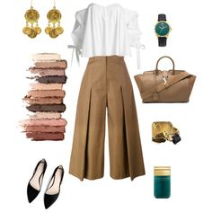 Modern Cleopatra by futuraocculto on Polyvore featuring мода, Caroline Constas, Fendi, MANGO, Yves Saint Laurent, Gucci, tarte, Marc Jacobs, modern and lightbrown
