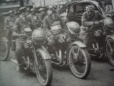British ATS dispatch riders My dad had a motorbike in London during WWII.  He met my mom at a dance; he took her all over on his bike.  Who'd a thunk it, with a war going on?!