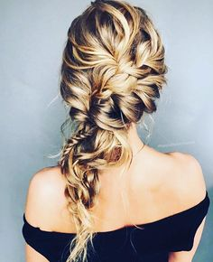 Pretty hairstyle - Fabmood | Wedding Colors, Wedding Themes, Wedding color palettes