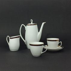 """Serwis do kawy """"Aldona"""", porcelana Chodzież, lata 60./70."""
