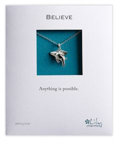 Another great find on #zulily! Sterling Silver Flying Pig Necklace by Lily Charmed #zulilyfinds