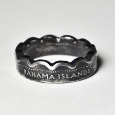 Coin Ring Bahamas 10 Cents Size 5 1/2 by TheRingTree on Etsy.