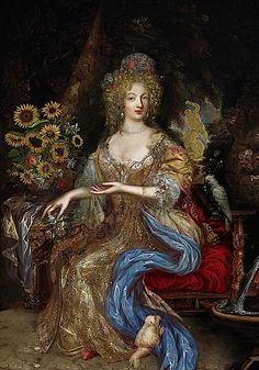 Françoise Athénaïs de Rochechouart de Mortemart, better known as Madame de Montespan, was the most celebrated maîtresse en titre of King Louis XIV of France, by whom she had seven children. Madame de Montespan was called by some the true Queen of France during her romantic relationship with Louis XIV due to the pervasiveness of her influence at court during that time. She is an ancestress of several royal houses in Europe, including those of Spain, Italy, Bulgaria and Portugal